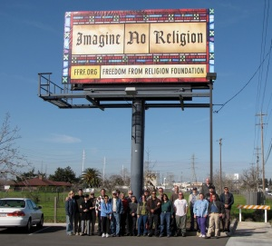 FFRF billboard in East Sacramento